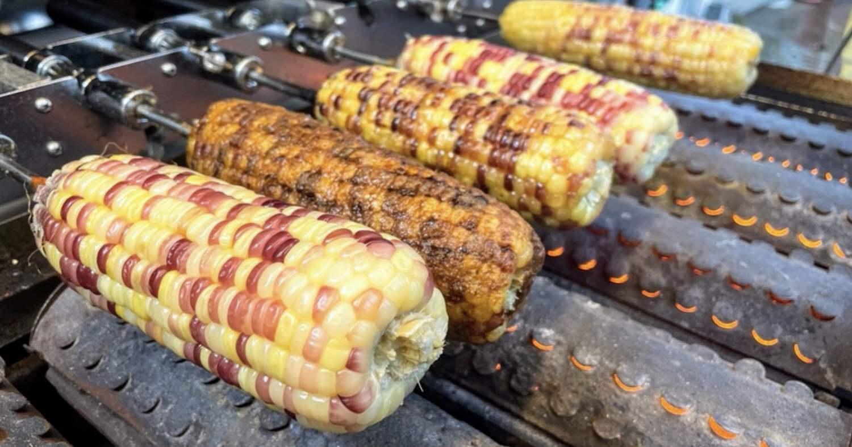 巧田珍珠烤玉米。嘉義太平老街梯散策的在地好味道