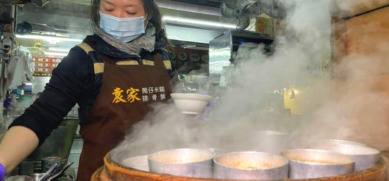 袁家筒仔米糕排骨酥 / 隱藏在市場內的美味 / 難忘的排骨酥口感 /嘉義東區